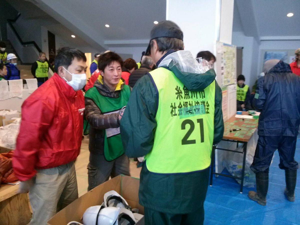 イメージ写真:糸魚川災害ボランティアセンター手伝い