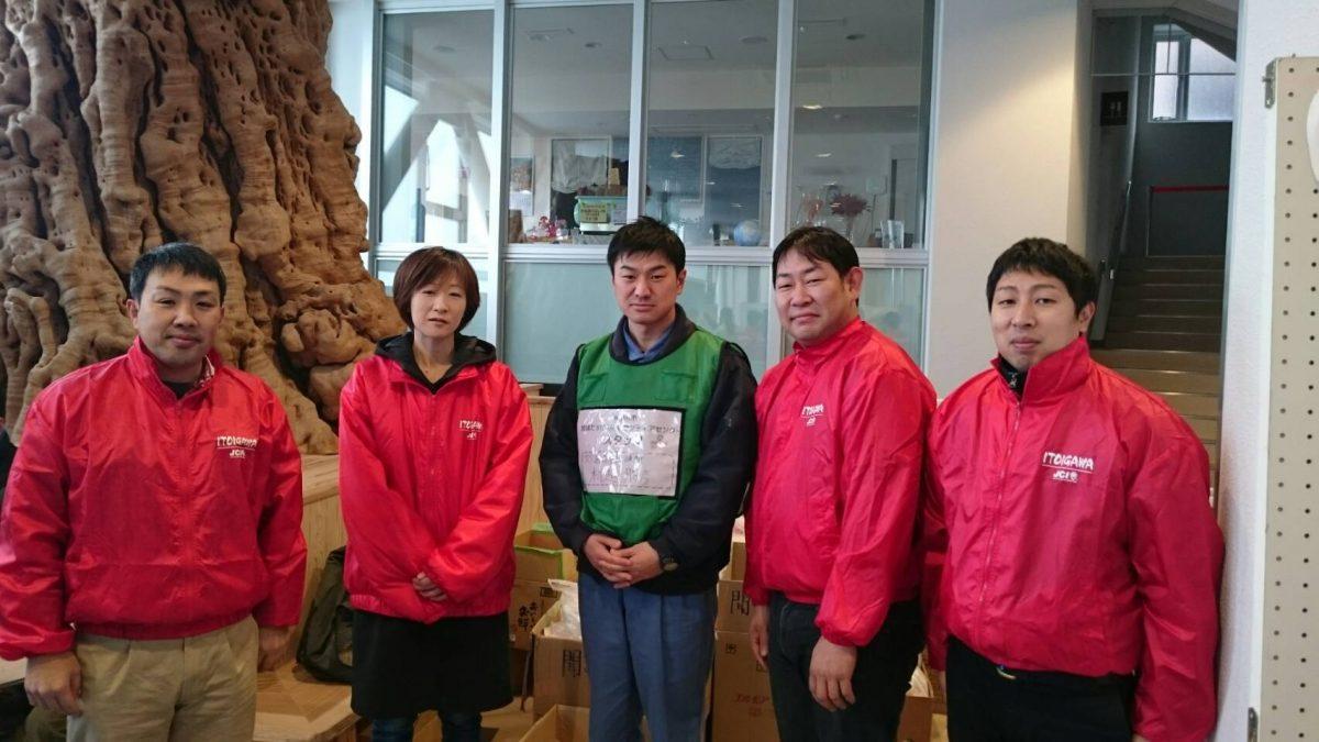 糸魚川大火の支援活動を連日行なっている糸魚川JCの皆さんと