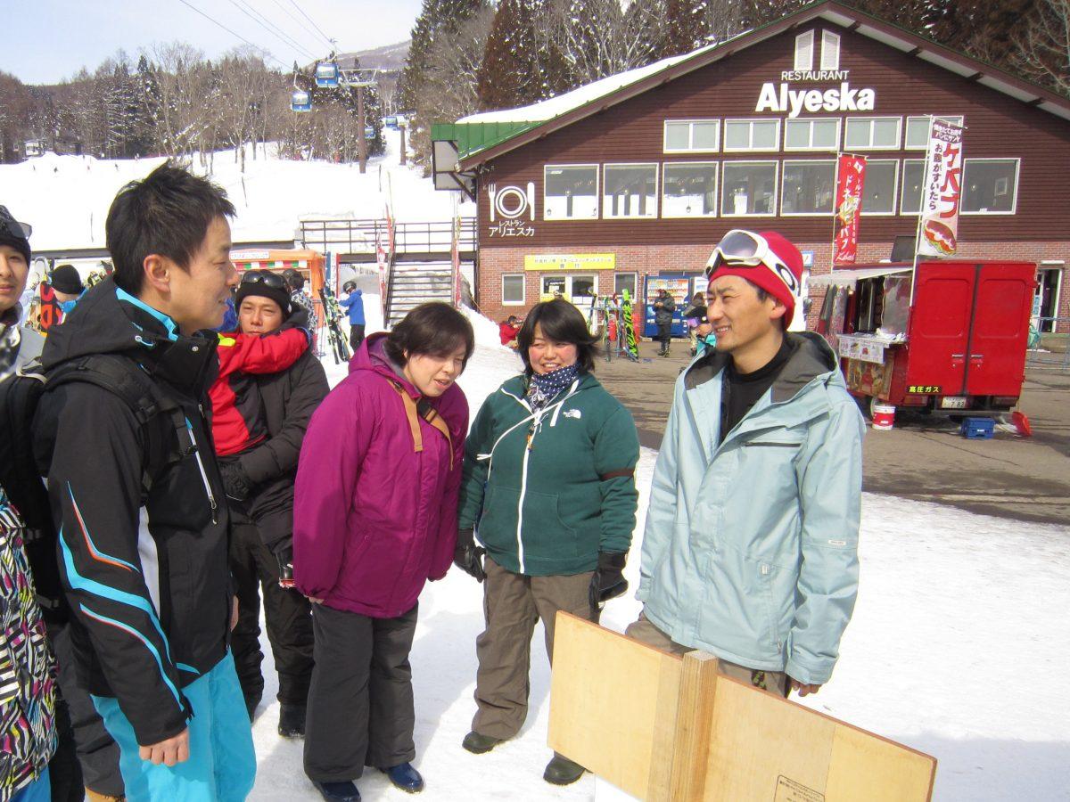スキー場で交流事業ができるのも、妙高青年会議所の魅力のひとつかも知れません。