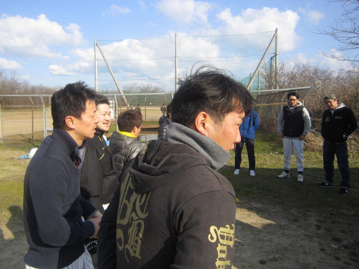 背中で語る妙高JCの野球部キャプテン滝田副委員長!この日まで精力的に練習してきました。