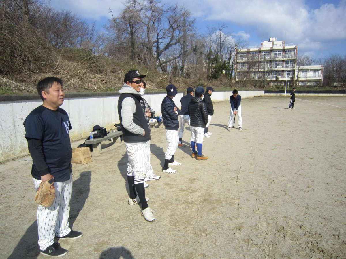 みんなで野球の練習を…、あれっ!?