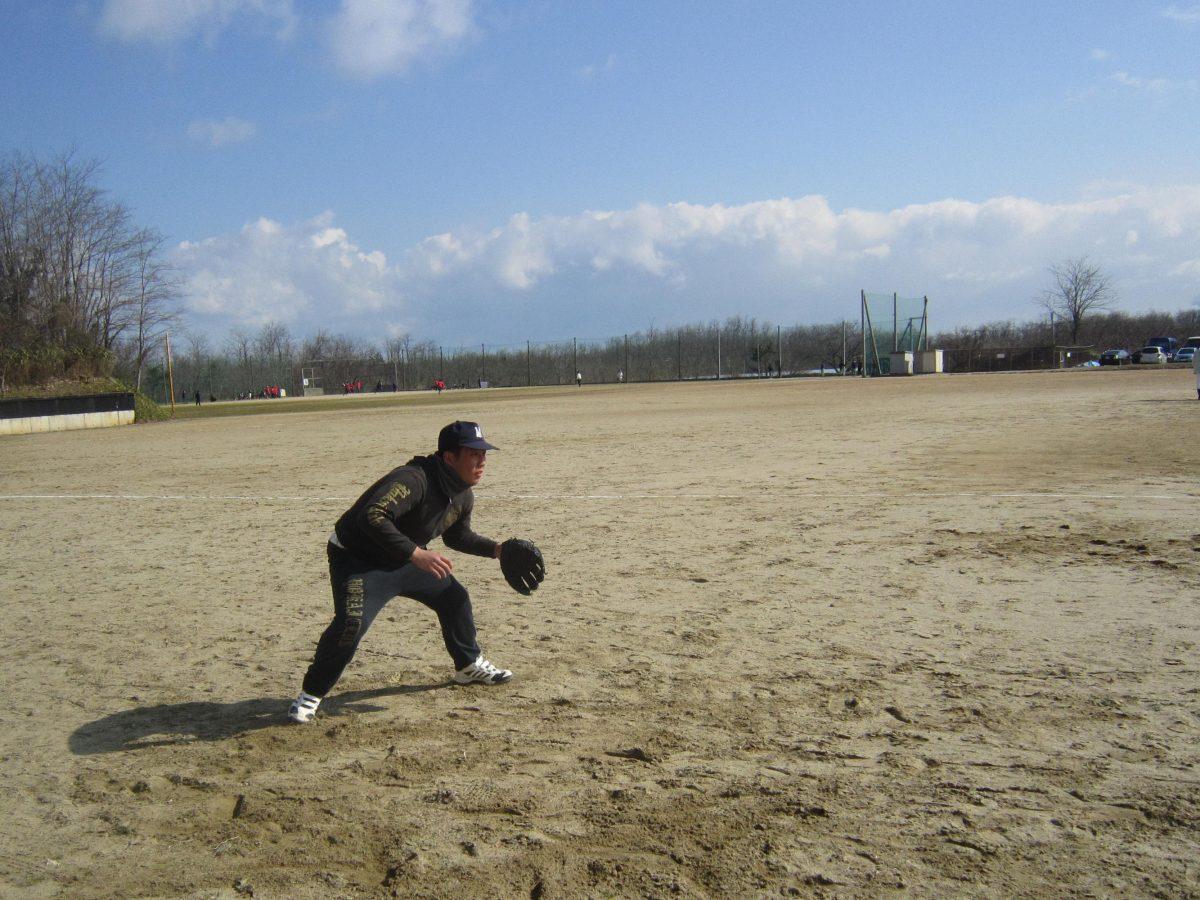 ボールをキャッチする練習です。