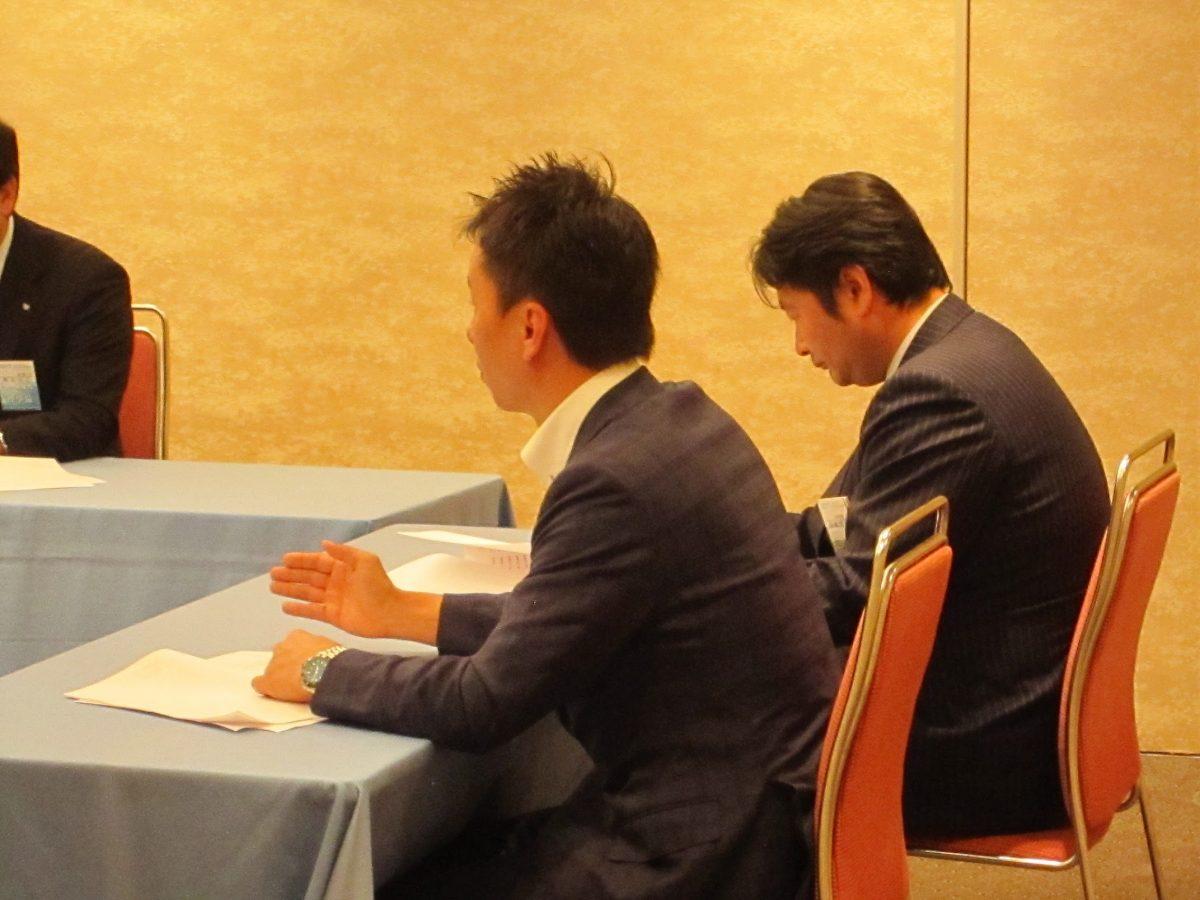 まずは役員会から。中田理事長も意見を出しておりました。