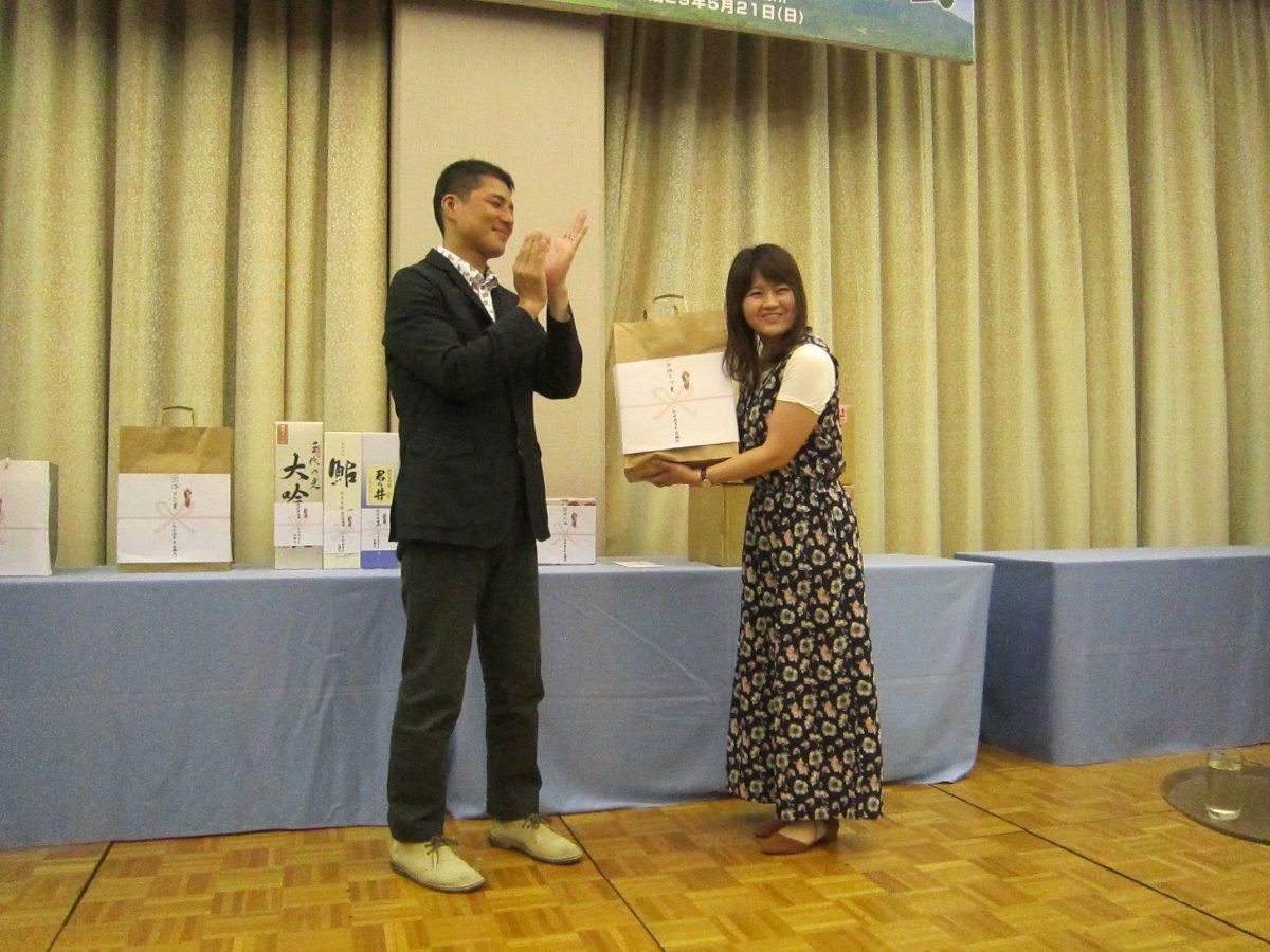 女性の参加者の中でトップだった方へ「女性トップ賞」も授与されました。