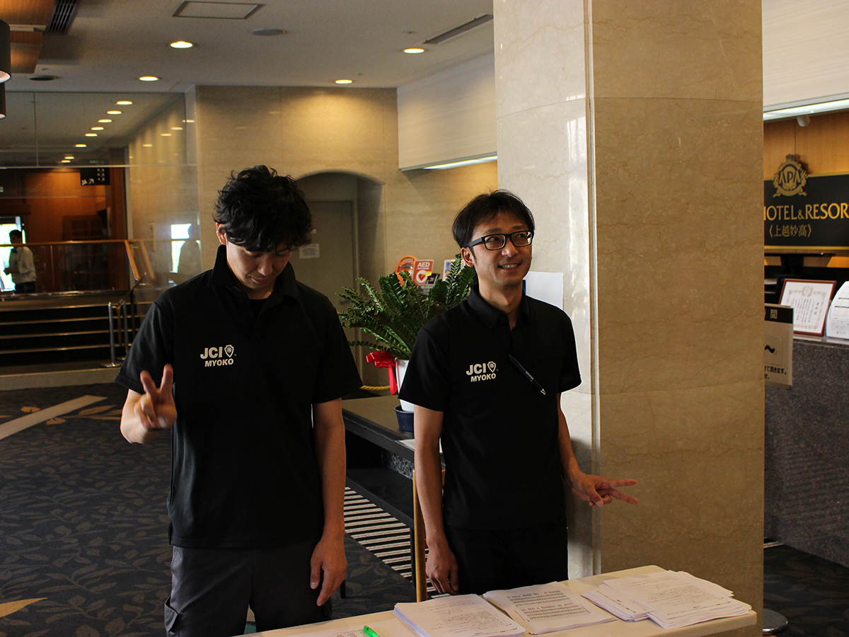 そのころ、受付には山﨑副理事長と乗木委員が待機しておりました。