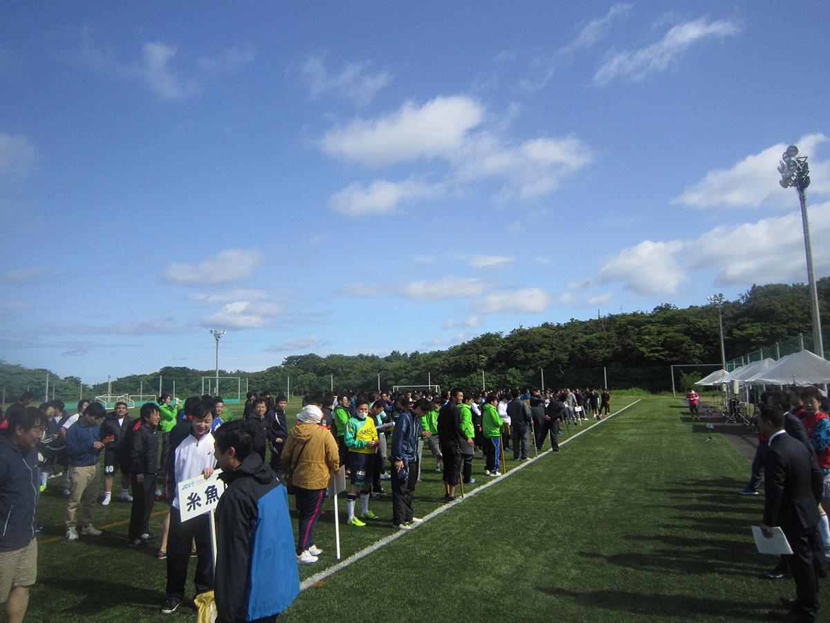 上越でのサッカー大会へ、新潟ブロックの皆さんがたくさん参加していました。