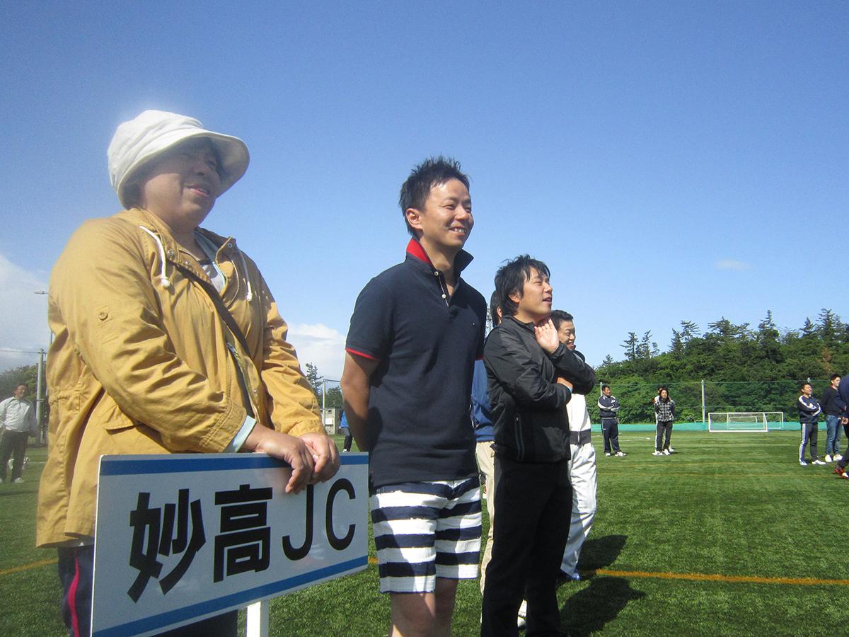 妙高JCのメンバーも、楽しい体操に笑顔があふれていました。