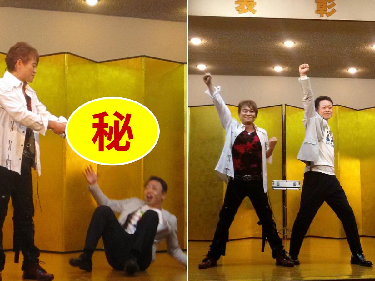 懇親会の中で、相羽副委員長はステージに上がり、マジシャンの方のパフォーマンスに参加していました。肝心な部分は(秘)です。