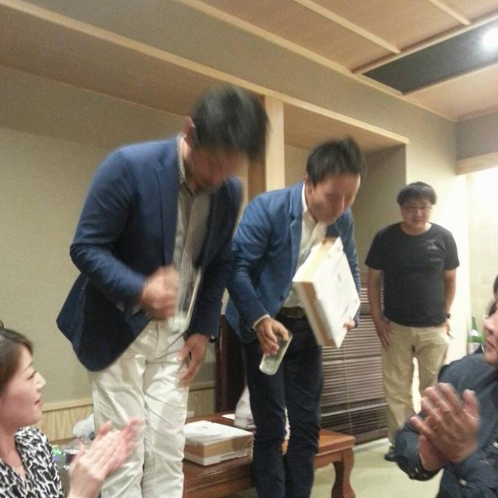 山川委員長(左)が優勝!中田理事長(右)は準優勝でした。