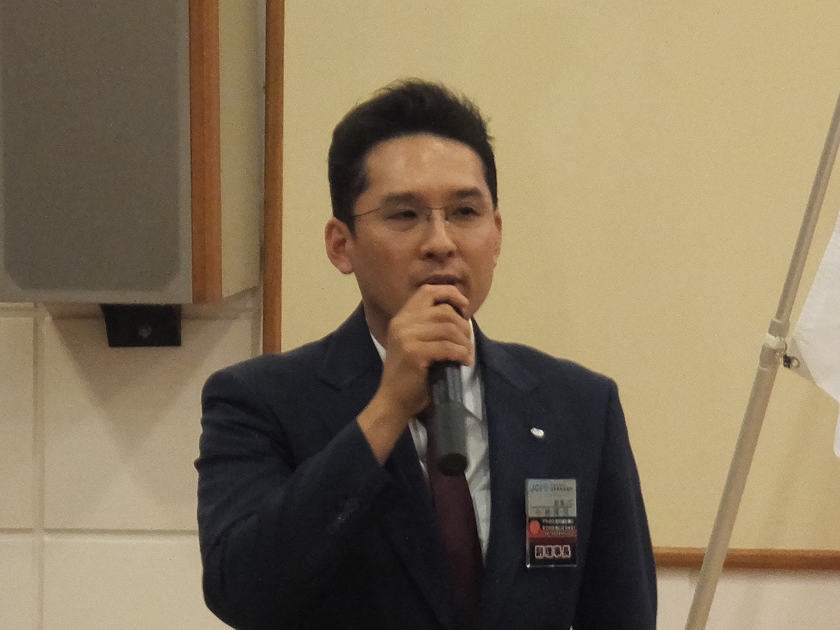 同じく2018年度監事予定者に承認された小林君(2017年度副理事長)です。「同期入会でもある望月理事長予定者を監事として支えたいです!」