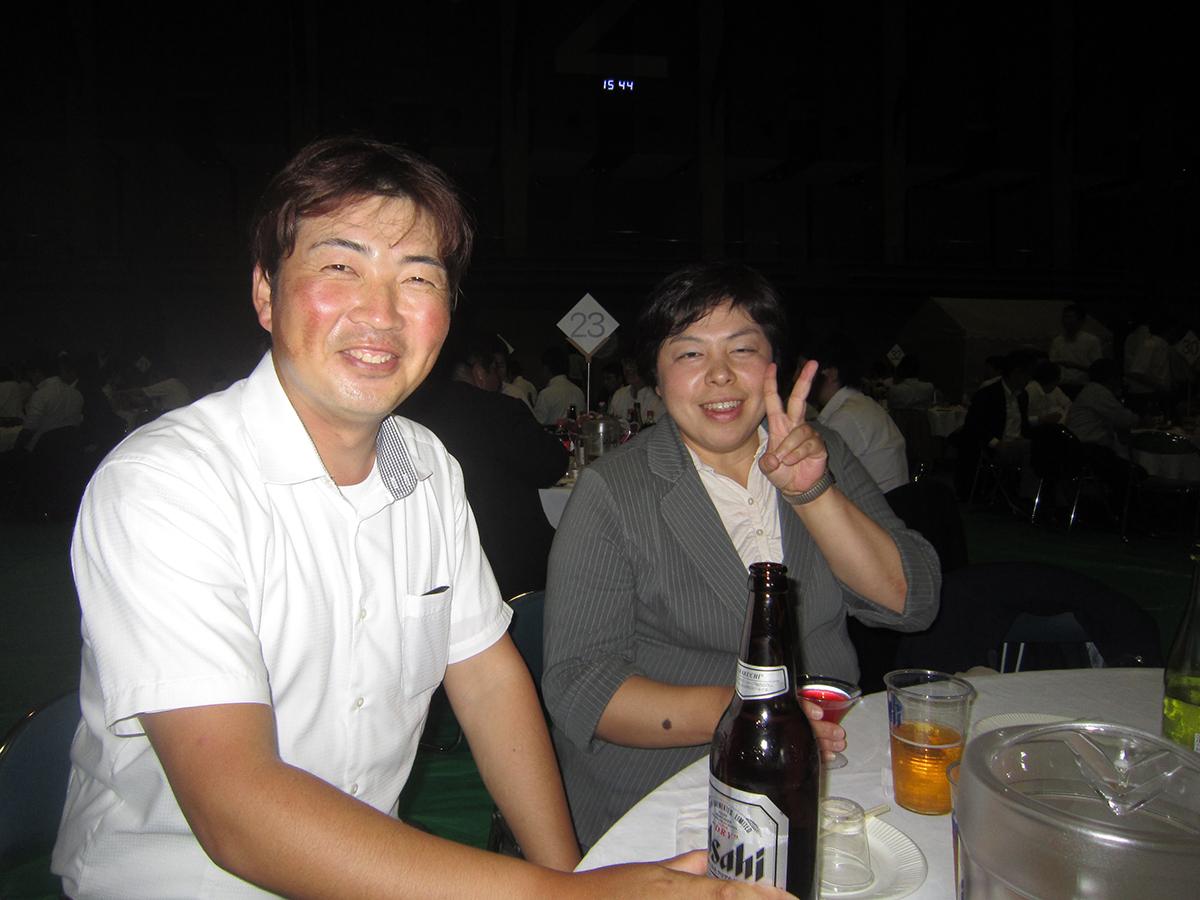 あっ、田村先輩です。お久しぶりです!