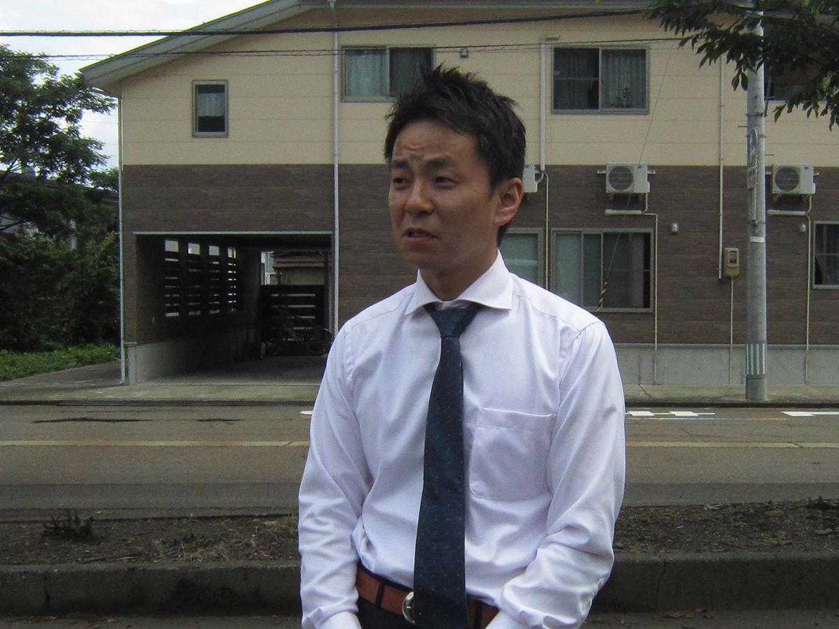 妙高市新井を出発!中田理事長から妙高JCメンバーへのご挨拶です。