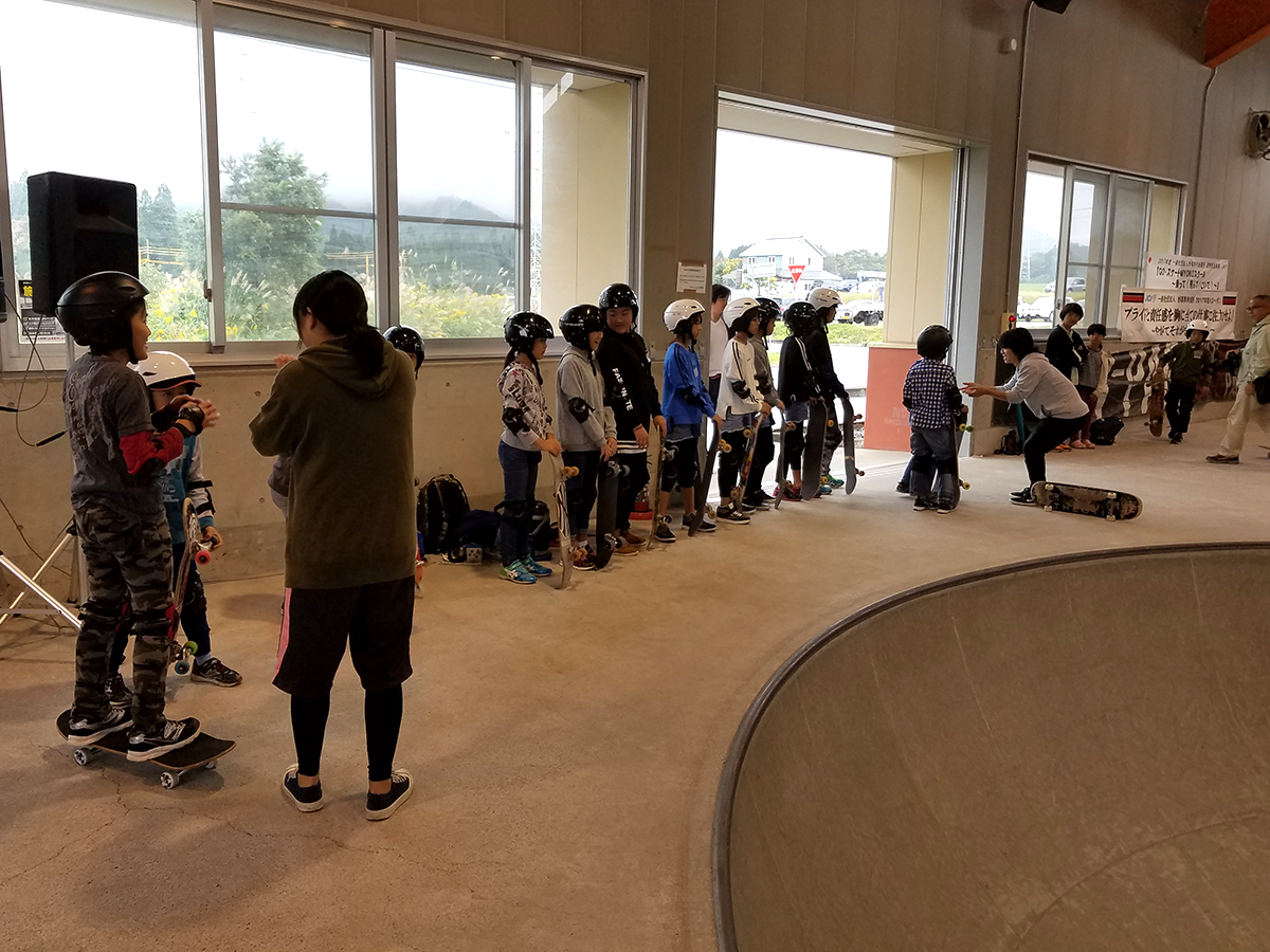 連携推進事業「GO・スケートMYOKOスクール ~乗って!飛んで!こいで!~」開催しました(その1)