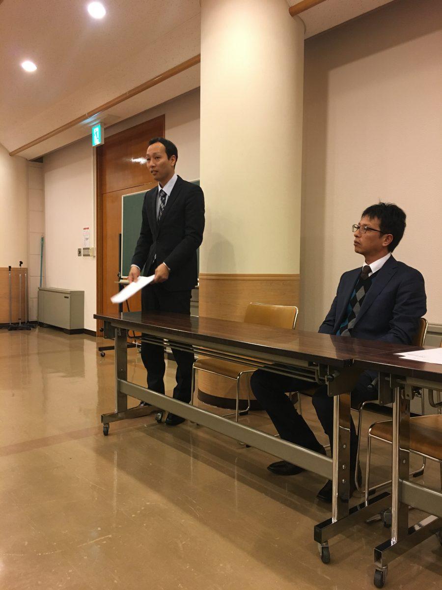 2017年度監事の横山先輩、市川先輩にもお越しいただきました。