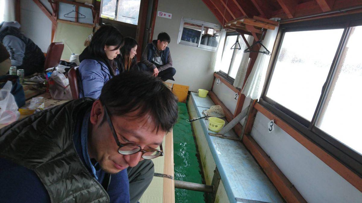 任意事業 「ワカサギ釣り交流会」が行われました。